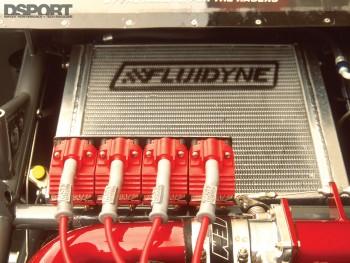 Fluidyne in the Papadakis' AEM Drag Civic