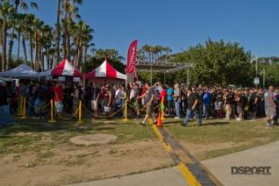 Large crowd gathered at Toyotafest booth