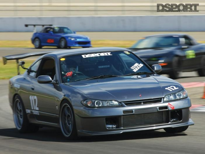 Nissan Silvia leading laps in time attack