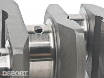 Close-up of engine crank