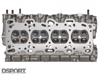 The cylinder head of an engine block