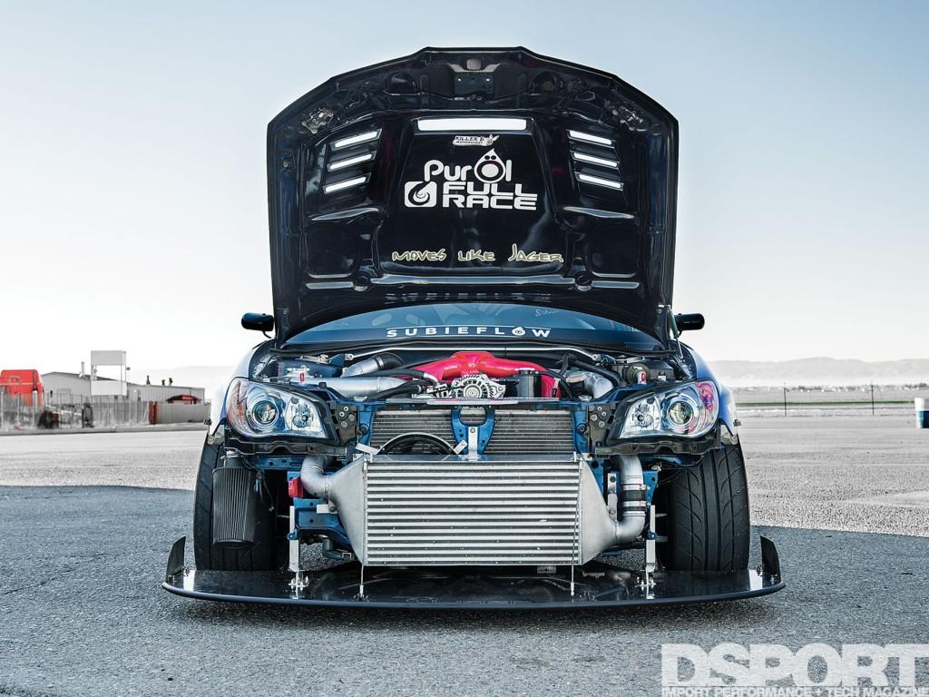 Jager Subaru STi open hood