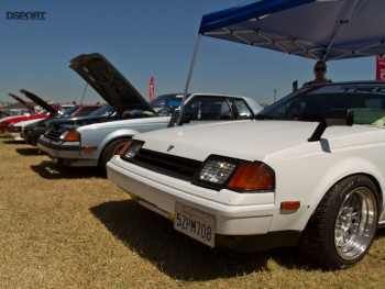 Some classic toyotas at the car show with nice fitment