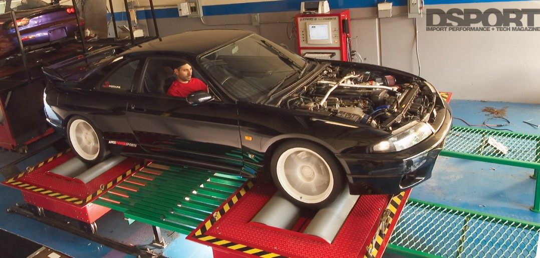 GT-R on the dyno at XS Engineering.