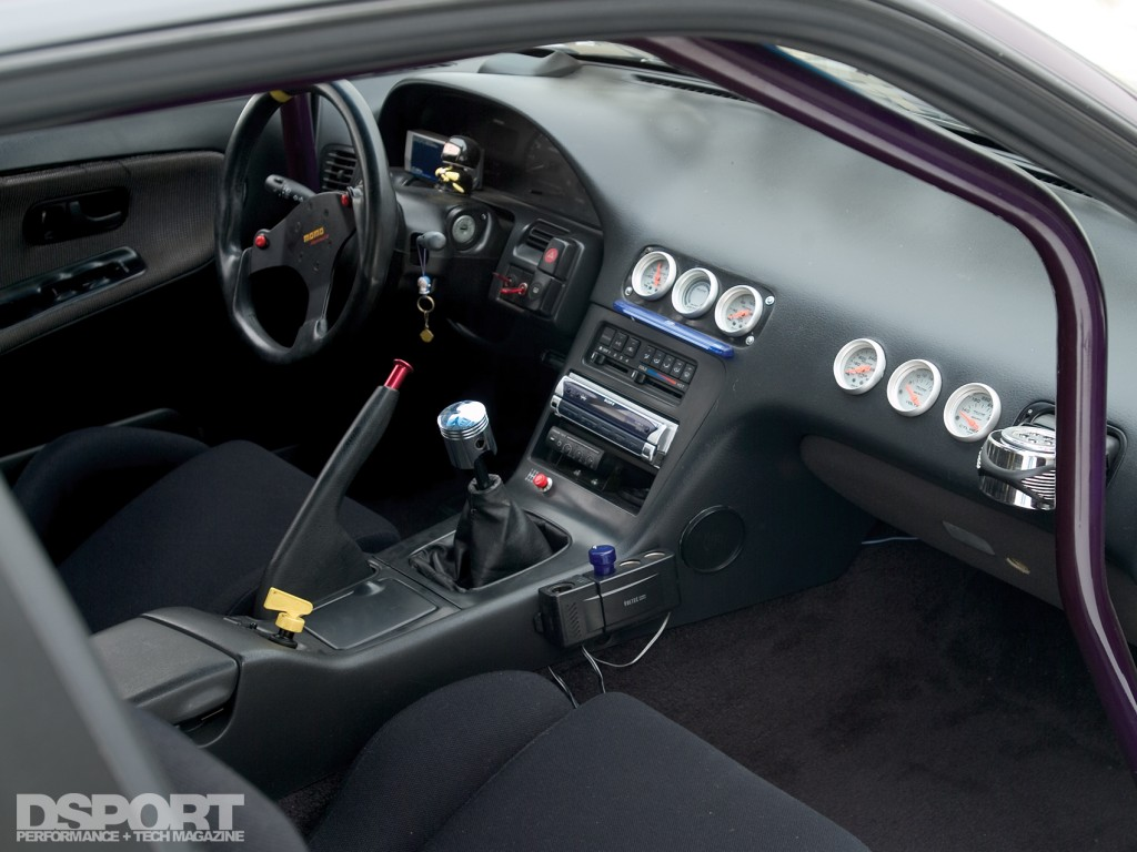 Interior of the RB26 swapped Nissan S13