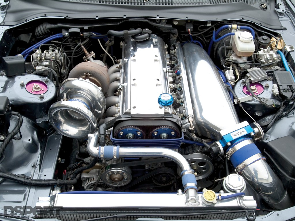2JZ-GTE in the Show and Go Toyota Supra
