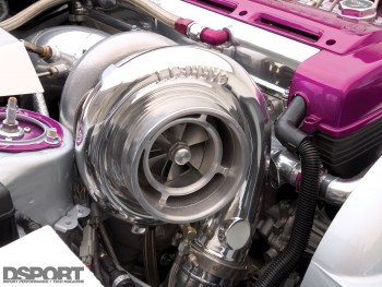 Closeup of turbo on Saad Supra