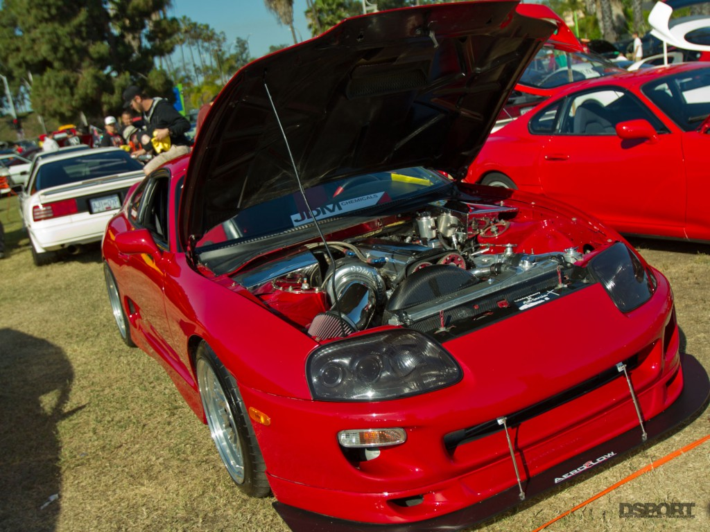 Clean red supra at Toyotafest