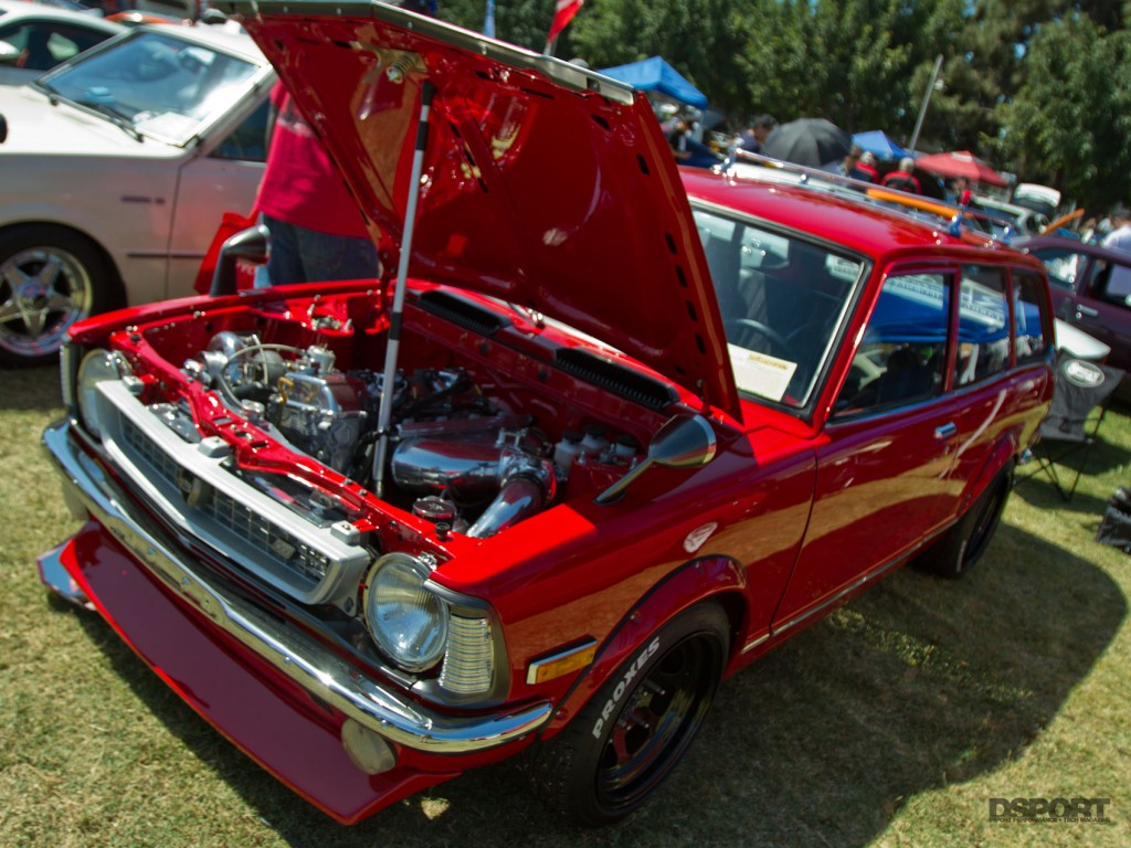 Nice old school red Toyota