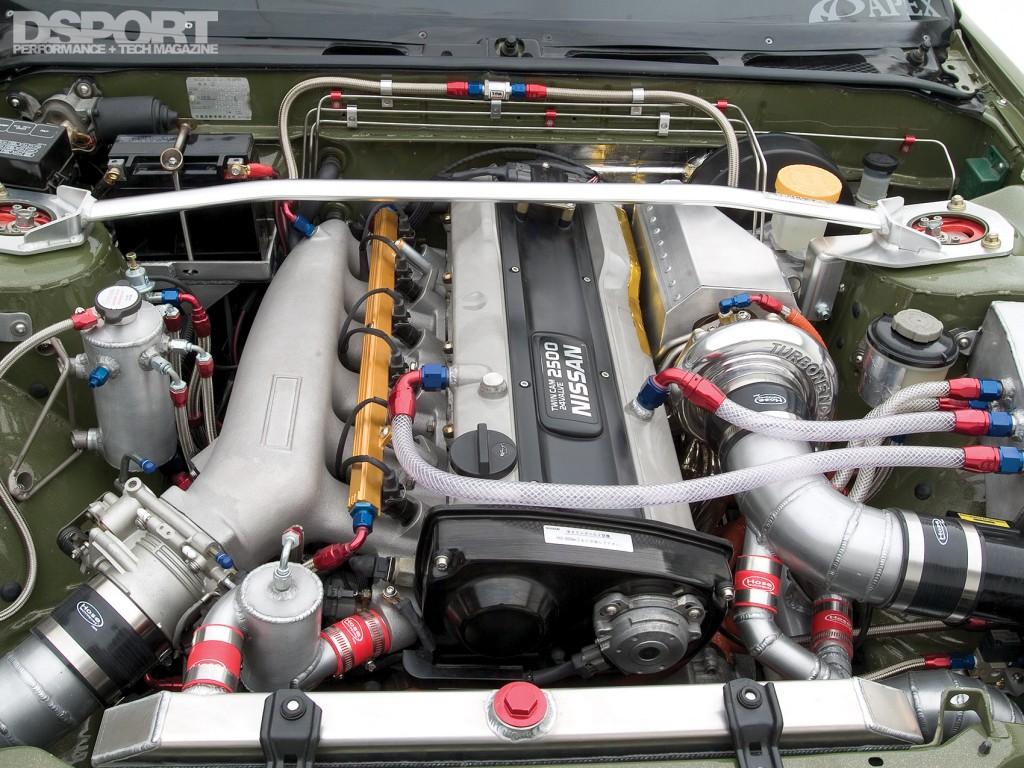 Engine in Jensen's RB25 Nissan 240SX