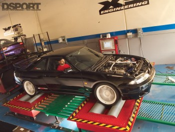 GT-R on dyno at XS Engineering