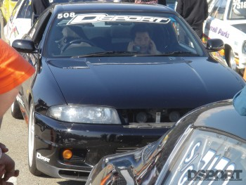 GT-R in staging lanes