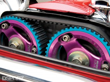 The cam gears on Tony's 9 second Supra