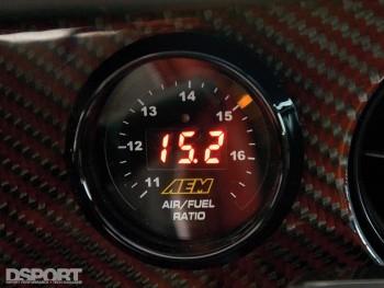 AEM Air/Fuel guage on Tony's 9 second Supra