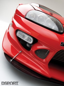 Close up of Tony's 9 second Supra front body kit