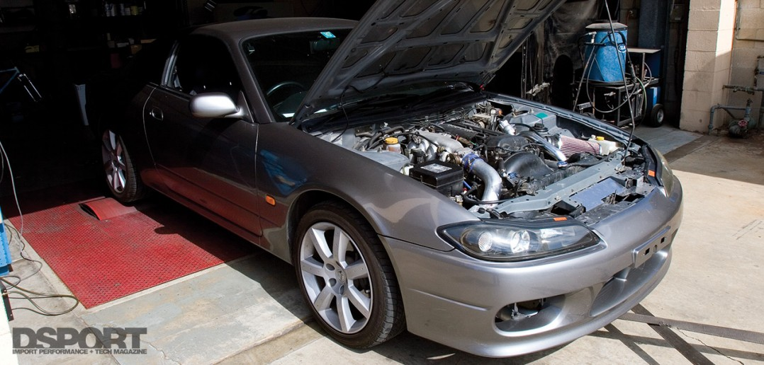 D'Garage Silvia S15 on dyno