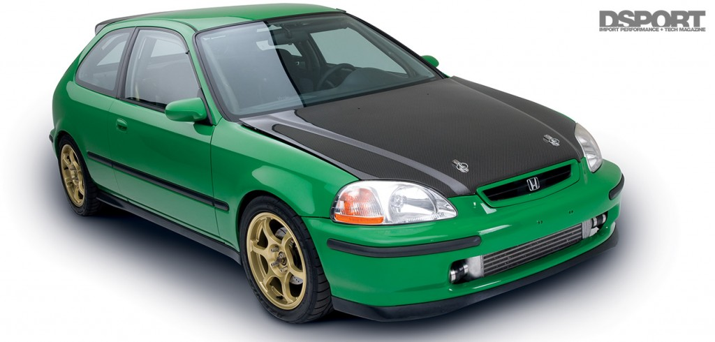 Studio shot of the D'Garage Honda Civic EK