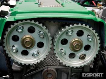 Cam gears on the D'Garage Honda Civic EK