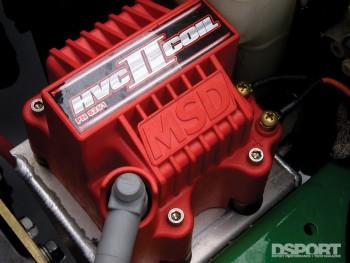 MSD Ignition coil on the D'Garage Honda Civic EK