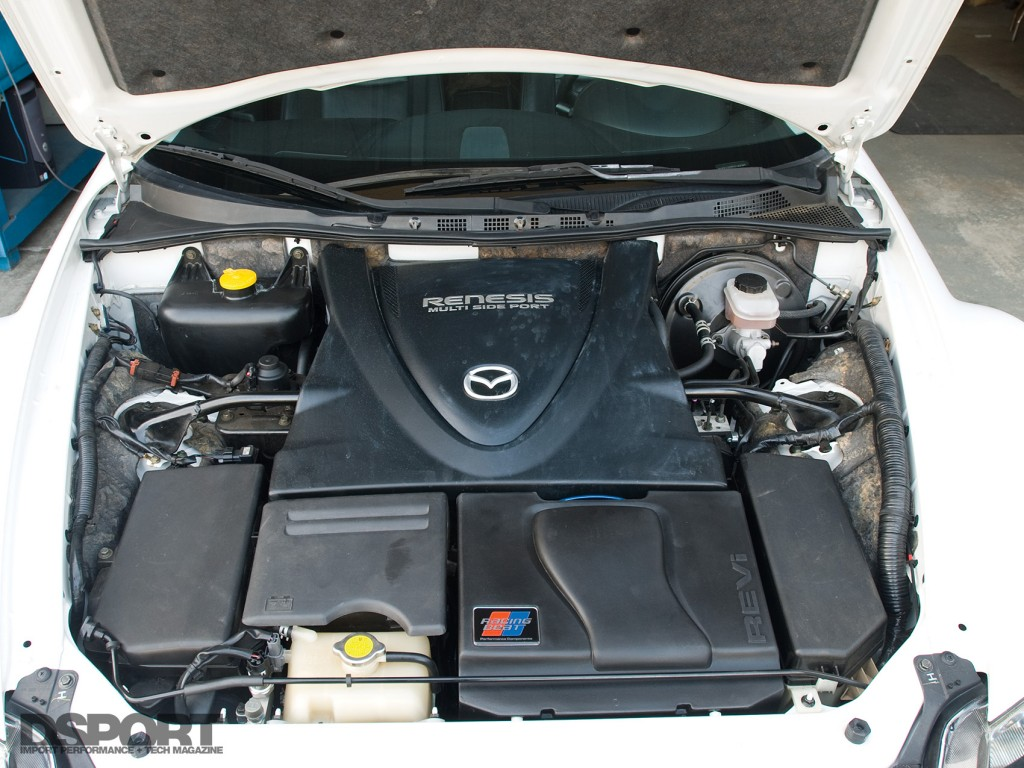 The engine of the Mazda RX-8