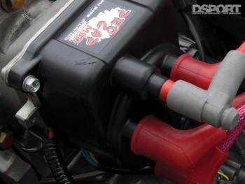 MSD ignition plugs on the D'Garage Honda Civic EK