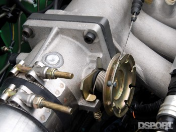 Throttle body on the D'Garage Honda Civic EK