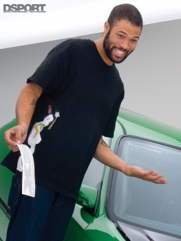 Jeren walker, driver of the D'Garage Honda Civic EK