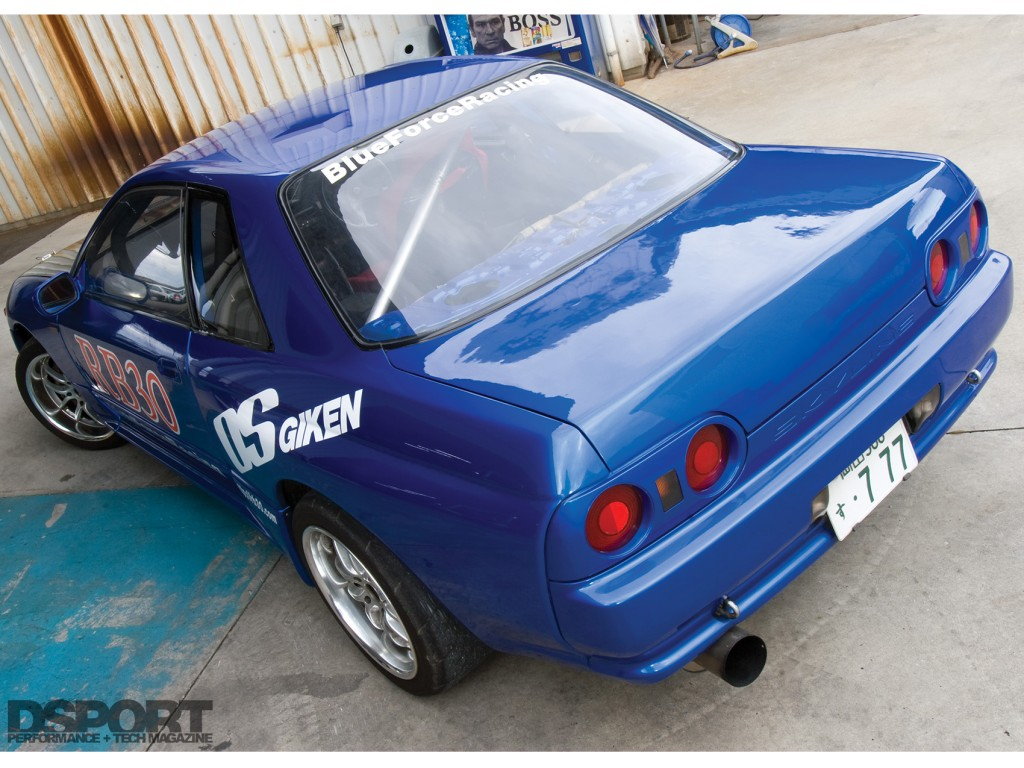 back view of the OS Giken RB30 Nissan R32