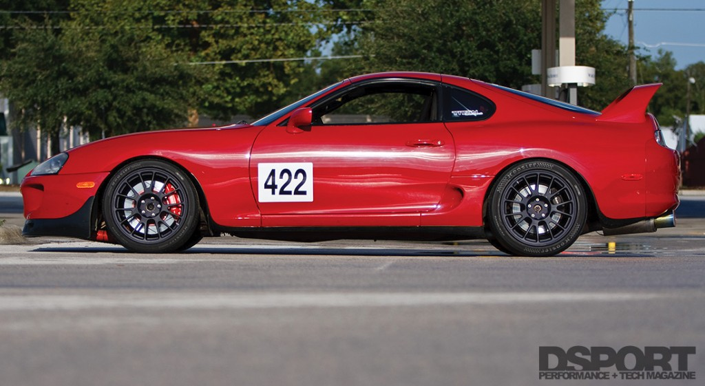 Side profile shot of the 560WHP Track Carving Single Turbo Toyota Supra