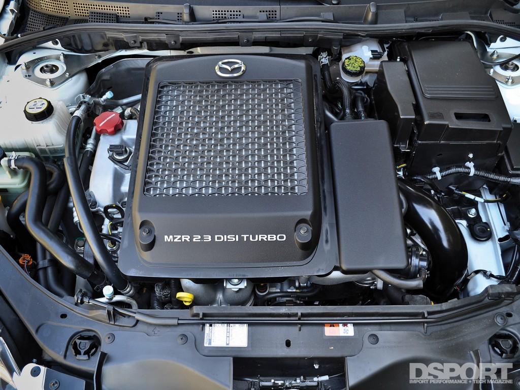 Engine bay of the Mazdaspeed3