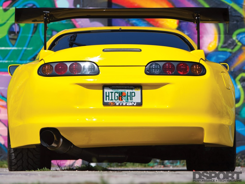 Rear of the 1,067 whp Toyota Supra
