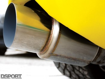 TM 4.5 inch exhaust on the 1,067 whp Toyota Supra