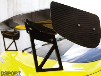 APR racing wing on the 1,067 whp Toyota Supra