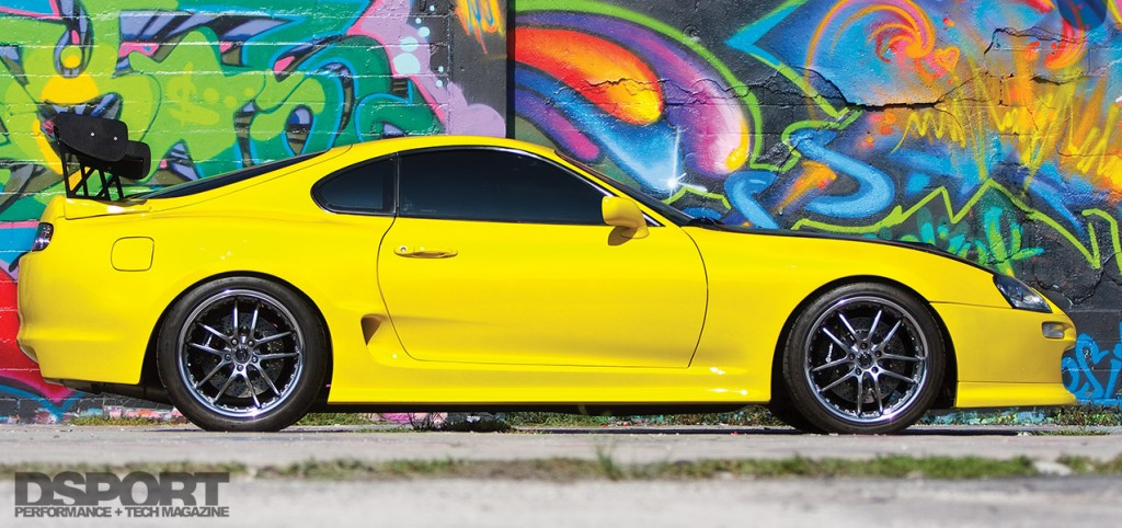 Side profile of the 1,067 whp Toyota Supra