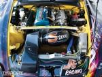 Engine bay on the J's Racing Honda S2000