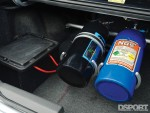 The nitrious bottle in the trunk of the Todd Allen's 693 HP EVO VIII