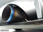 The exhaust on Todd Allen's 693 HP EVO VIII
