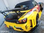 Rear aero kit on the J's Racing Honda S2000