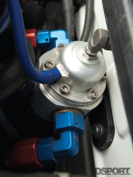 Fuel system in the GReddy Nissan 350Z