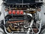 Engine bay of Chris Rado's Scion tC
