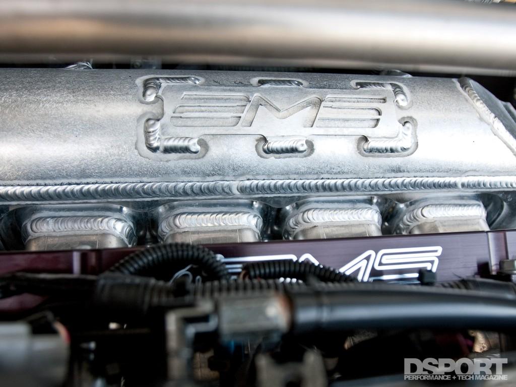 Rare AMS manifold in the AMS Mitsubishi EVO VIII