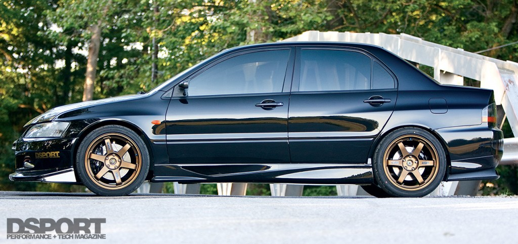 side profile of the AMS Mitsubishi EVO VIII