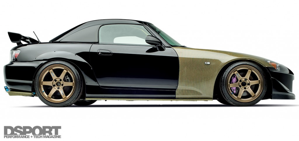 Side profile of the 500 HP Honda S2000