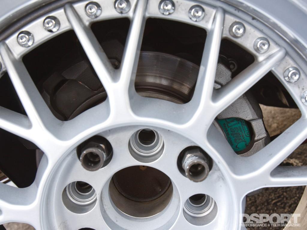 Dual brakes on the SR-powered drift AE86