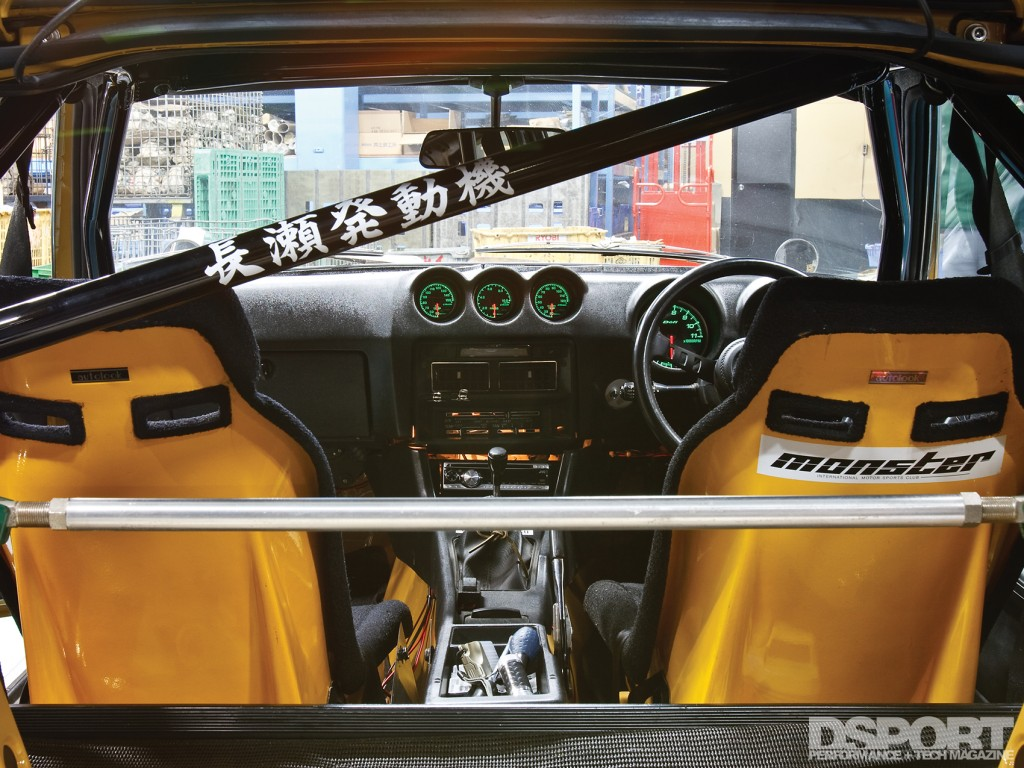 Interior of Tomitaku's Datsun 240Z