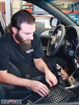 Jon from COBB Tuning doing work