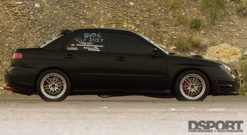 Side profile of the 457 WHP 10-Second Subaru STI