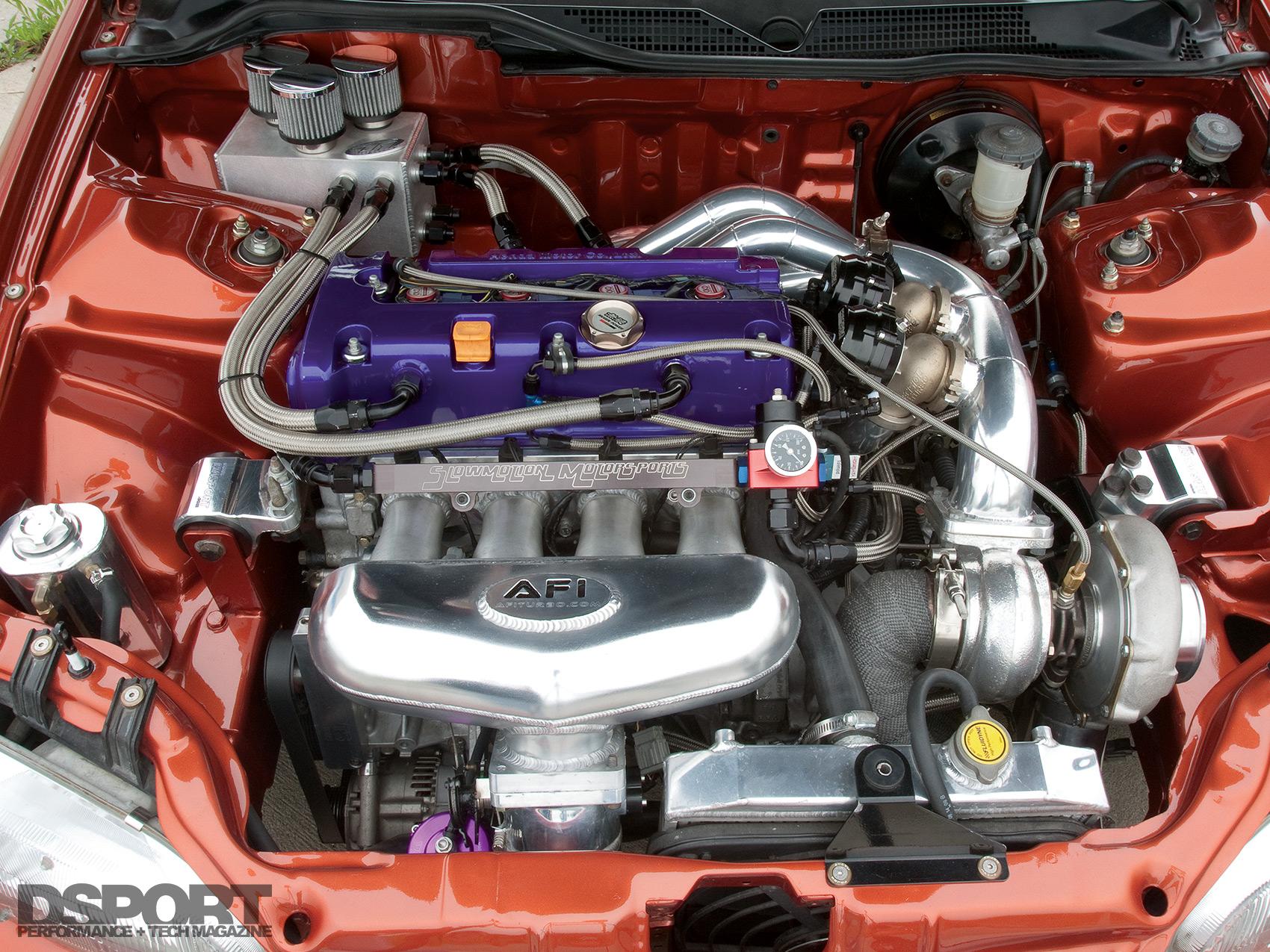 786 HP Turbocharged K-series Honda Civic Aims At Eights
