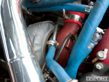 Turbocharger in the 457 WHP 10-Second Subaru STI