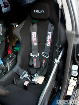 NRG seats in the 457 WHP 10-Second Subaru STI
